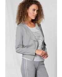 graue Jacke mit einer offenen Front von BIANCA