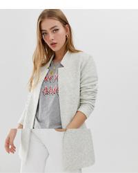 graue Jacke mit einer offenen Front von Only
