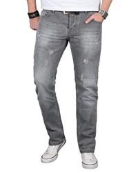 graue Jeans mit Destroyed-Effekten von Alessandro Salvarini