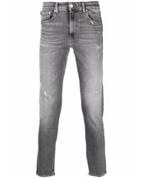 graue Jeans mit Destroyed-Effekten von Calvin Klein Jeans