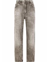 graue Jeans mit Destroyed-Effekten von Dolce & Gabbana
