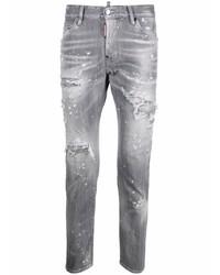 graue Jeans mit Destroyed-Effekten von DSQUARED2