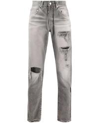 graue Jeans mit Destroyed-Effekten von Off-White