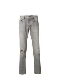 graue Jeans mit Destroyed-Effekten von Saint Laurent