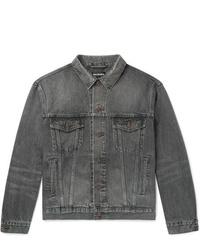 graue Jeansjacke von Balenciaga