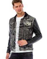graue Jeansjacke von Cipo & Baxx