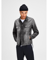 graue Jeansjacke von Jack & Jones