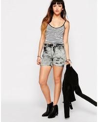 graue Jeansshorts von Glamorous