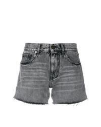 graue Jeansshorts von Saint Laurent
