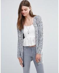 graue klobige Strickjacke mit einer offenen Front von Pepe Jeans