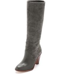 graue kniehohe Stiefel aus Wildleder von Splendid