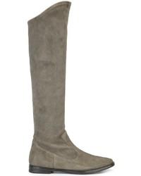 graue kniehohe Stiefel aus Wildleder von Unützer