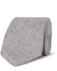 graue Krawatte mit Fischgrätenmuster von Brunello Cucinelli