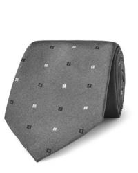 graue Krawatte mit geometrischem Muster von Turnbull & Asser