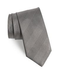 graue Krawatte mit Hahnentritt-Muster