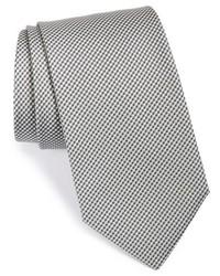 graue Krawatte mit Karomuster