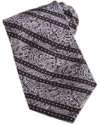 graue Krawatte mit Paisley-Muster