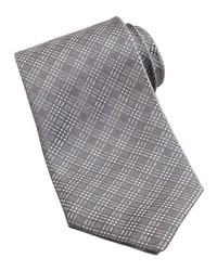 graue Krawatte mit Schottenmuster
