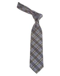 graue Krawatte mit Schottenmuster von