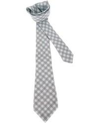 graue Krawatte mit Vichy-Muster
