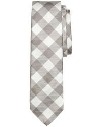 Graue Krawatte mit Vichy-Muster von Brooks Brothers
