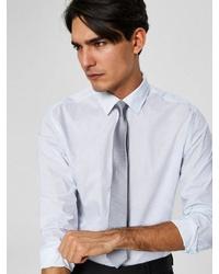 graue Krawatte von Selected Homme