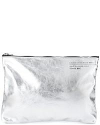 graue Leder Clutch von Golden Goose Deluxe Brand