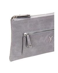 graue Leder Clutch von SURI FREY