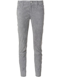 graue Leder enge Jeans von Closed