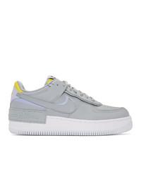 graue Leder niedrige Sneakers von Nike