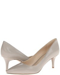 graue Leder Pumps