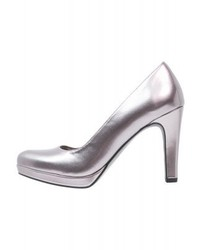 graue Leder Pumps von Tamaris