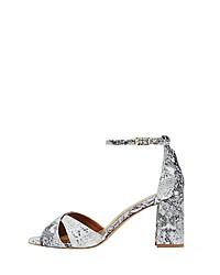 graue Leder Sandaletten mit Schlangenmuster von RISA
