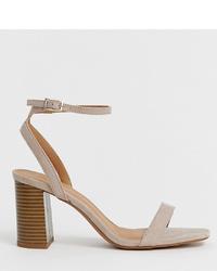 graue Leder Sandaletten von ASOS DESIGN