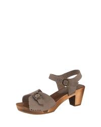 graue Leder Sandaletten von Sanita