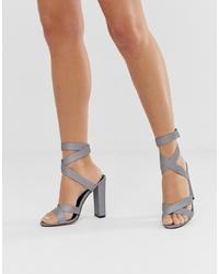 graue Leder Sandaletten von SIMMI Shoes