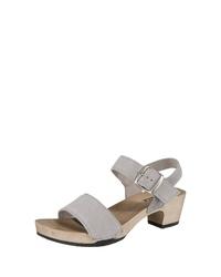 graue Leder Sandaletten von Softclox