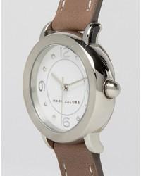 graue Leder Uhr von Marc Jacobs