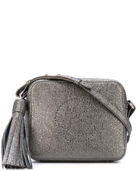 graue Leder Umhängetasche von Anya Hindmarch