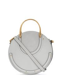 graue Lederhandtasche von Chloé