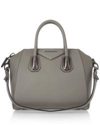 graue Lederhandtasche von Givenchy