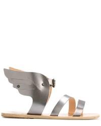 graue Ledersandalen von Ancient Greek Sandals