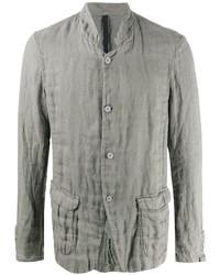 graue Leinen Shirtjacke von Poème Bohémien