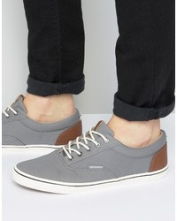 graue Leinenschuhe von Jack and Jones