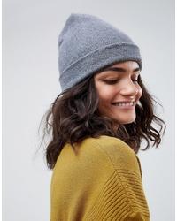 graue Mütze von ASOS DESIGN