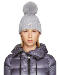 graue Mütze von Moncler
