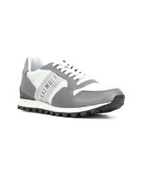 graue niedrige Sneakers von Dirk Bikkembergs