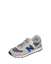 graue niedrige Sneakers von New Balance