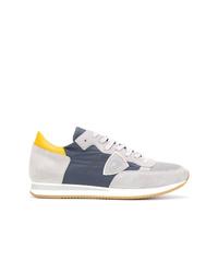 graue niedrige Sneakers von Philippe Model