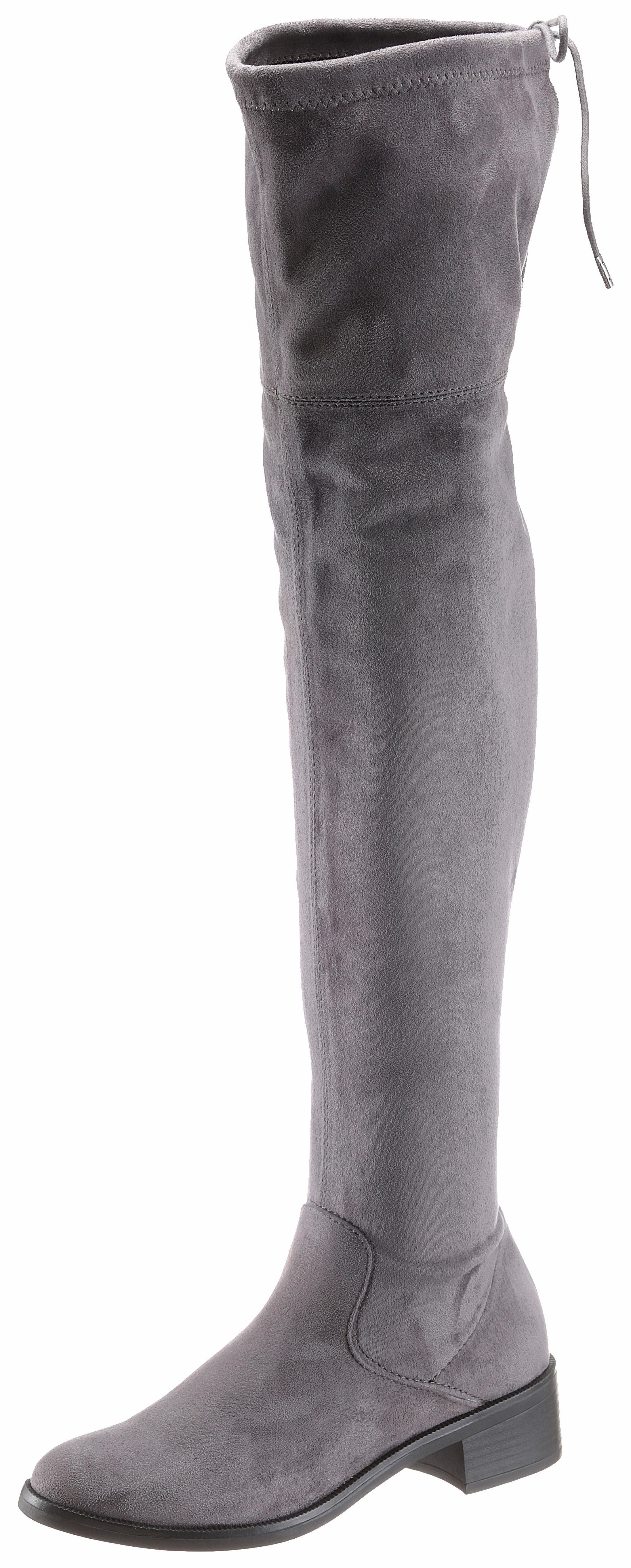 Red Stiefel Wildleder S Graue Overknee Label Von Aus oliver xoBedC